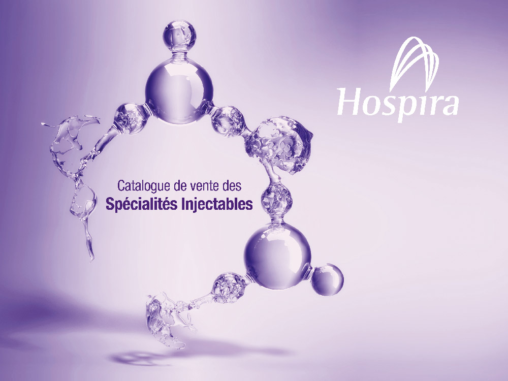 ecran d'accueil du catalogue Hospira