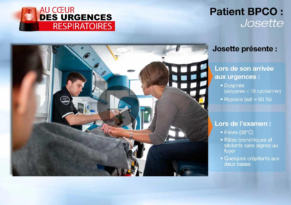 Application Urgences Respiratoires : un patient arrive aux urgences