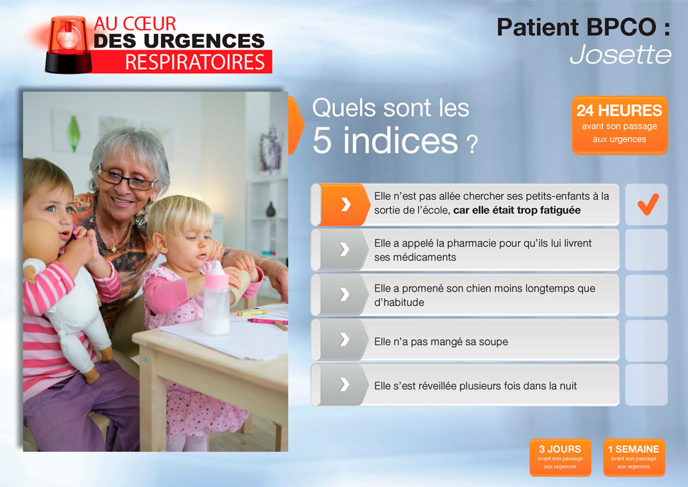 Indices de l'application Urgences Respiratoires
