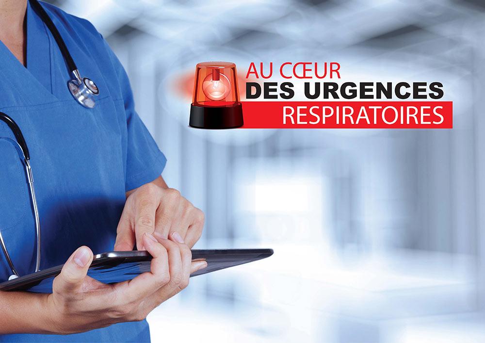 Ecran d'accueil de l'application Urgences Respiratoires