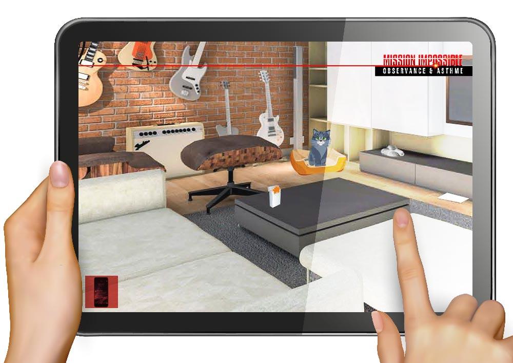 Visite d'un appartement virtuel pour Astra zeneca