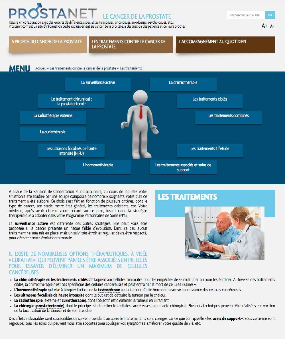 Template 2 d'un site sur le cancer de la prostate pour takeda