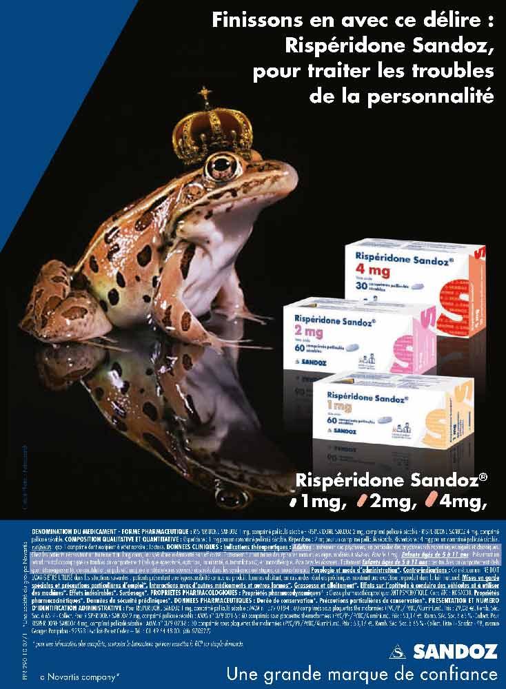 Visuel SANDOZ - une grenouille psychotique