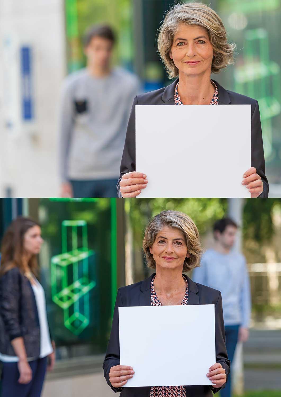 Montage de deux photos suite à un shooting en pleine rue